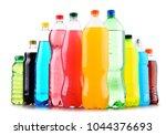 plastic bottles of assorted...   Shutterstock . vector #1044376693