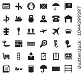 flat vector icon set   route... | Shutterstock .eps vector #1044399397