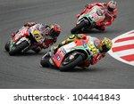 Постер, плакат: Italian Ducati rider Valentino
