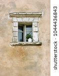 old wall with window. single... | Shutterstock . vector #1044436843