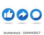 thumbs up and heart icon with... | Shutterstock .eps vector #1044443017