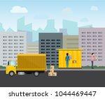 vector delivery self service. e ... | Shutterstock .eps vector #1044469447