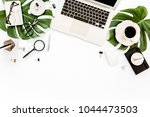 home office workspace mockup... | Shutterstock . vector #1044473503