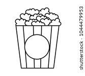 delicious pop corn icon | Shutterstock .eps vector #1044479953