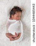 lovely newborn boy sleeping | Shutterstock . vector #1044485443