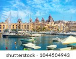 view of vittoriosa harbour and... | Shutterstock . vector #1044504943