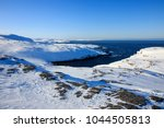 arctic ocean  winter time  snow ... | Shutterstock . vector #1044505813
