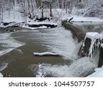 Falls With Snowy Creek Bank An...