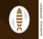 vector icon flat tasty fish... | Shutterstock .eps vector #1044508207