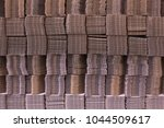 stack of cardboard boxes....   Shutterstock . vector #1044509617