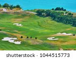 golf course on the sea shore of ... | Shutterstock . vector #1044515773