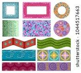 mosaic vector ceramic mosaicity ... | Shutterstock .eps vector #1044517663