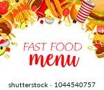 fast food restaurant menu... | Shutterstock .eps vector #1044540757