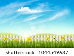 nature spring background with... | Shutterstock .eps vector #1044549637