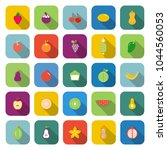 fruit color icons with long... | Shutterstock .eps vector #1044560053