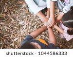 top view of asian children... | Shutterstock . vector #1044586333