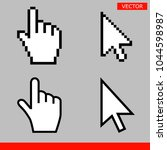 white arrow and pointer hand...   Shutterstock .eps vector #1044598987