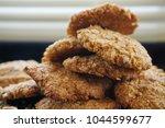 homemade anzac cookies with...   Shutterstock . vector #1044599677