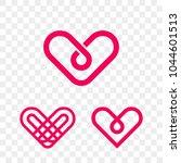heart logo vector icon.... | Shutterstock .eps vector #1044601513