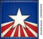 center star on blue background... | Shutterstock .eps vector #104460203