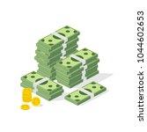 big pile of cash. concept of...   Shutterstock .eps vector #1044602653