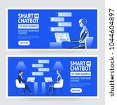 chatbot business concept.... | Shutterstock .eps vector #1044604897