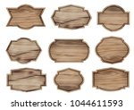 vector wood sign isolated on... | Shutterstock .eps vector #1044611593