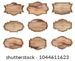 vector wooden sign isolated on... | Shutterstock .eps vector #1044611623