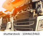 engine of a truck vehicle ... | Shutterstock . vector #1044615463