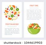 set flyers for fruit salad bar. ...   Shutterstock .eps vector #1044619903
