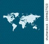map of world | Shutterstock .eps vector #1044627523