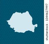 map of romania | Shutterstock .eps vector #1044627997