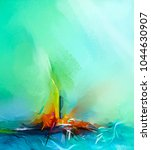 abstract colorful oil painting... | Shutterstock . vector #1044630907