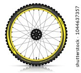 bicycle wheel with a best... | Shutterstock .eps vector #1044637357