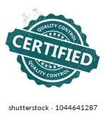 certified rubber stamp | Shutterstock .eps vector #1044641287