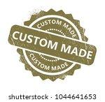 custom made stamp | Shutterstock .eps vector #1044641653