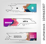 creative geometric promotion... | Shutterstock .eps vector #1044663307