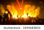 concert crowd dance to the show ... | Shutterstock . vector #1044683833