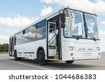 white airport bus  close up   Shutterstock . vector #1044686383