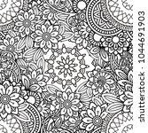 hand drawn seamless pattern...   Shutterstock .eps vector #1044691903