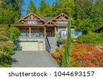 big custom made luxury house... | Shutterstock . vector #1044693157