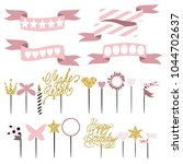 party set of decorations  ... | Shutterstock . vector #1044702637