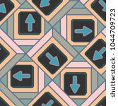 seamless abstract pattern with... | Shutterstock .eps vector #1044709723