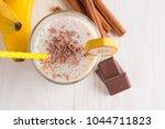 fresh made chocolate banana... | Shutterstock . vector #1044711823