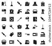 flat vector icon set   plunger... | Shutterstock .eps vector #1044726913