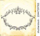 retro baroque decorations... | Shutterstock .eps vector #1044739783