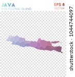 java polygonal  mosaic style... | Shutterstock .eps vector #1044744097
