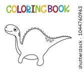 cute dino coloring book. | Shutterstock .eps vector #1044760963