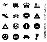 solid vector icon set  ... | Shutterstock .eps vector #1044766717