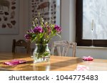 flowers decorating a table  | Shutterstock . vector #1044775483